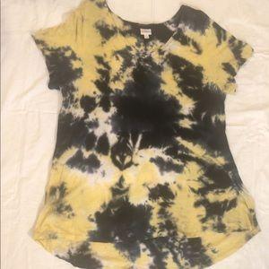 LulaRoe 3x tie dye Christy Tee